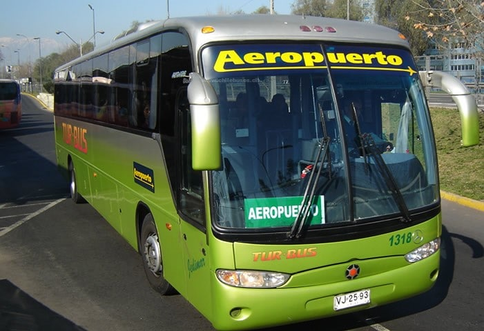 bus aeroport santiago centre ville