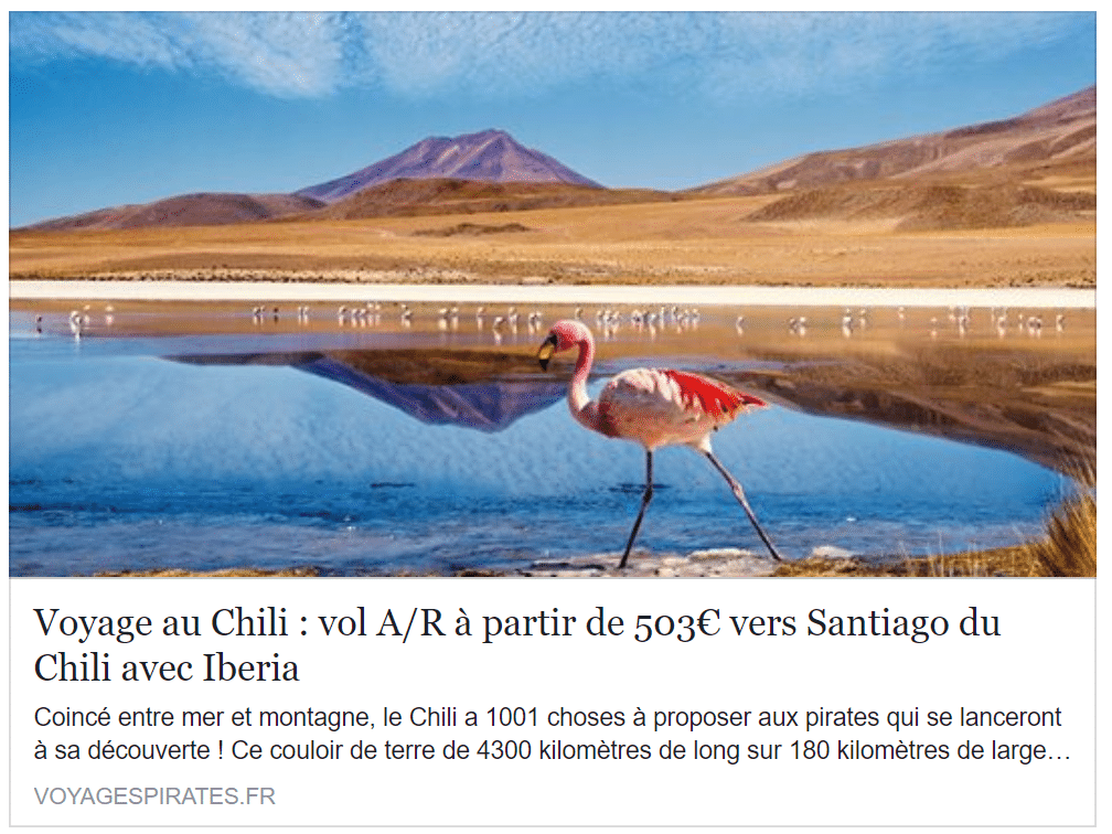 promo Iberia santiago paris pas cher vol billet avion