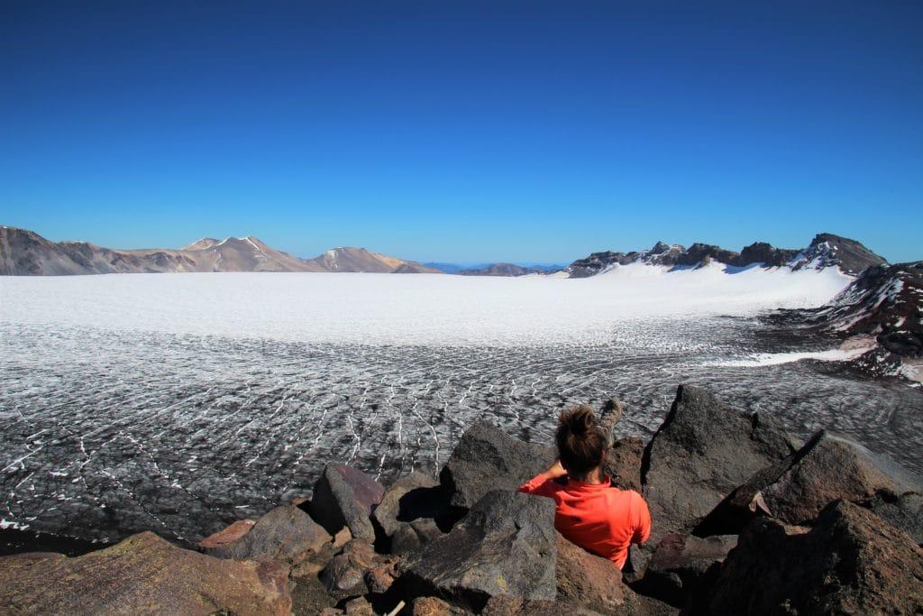 Mirador glacier Sollipulli chili travelcoachchile araucanine insolite