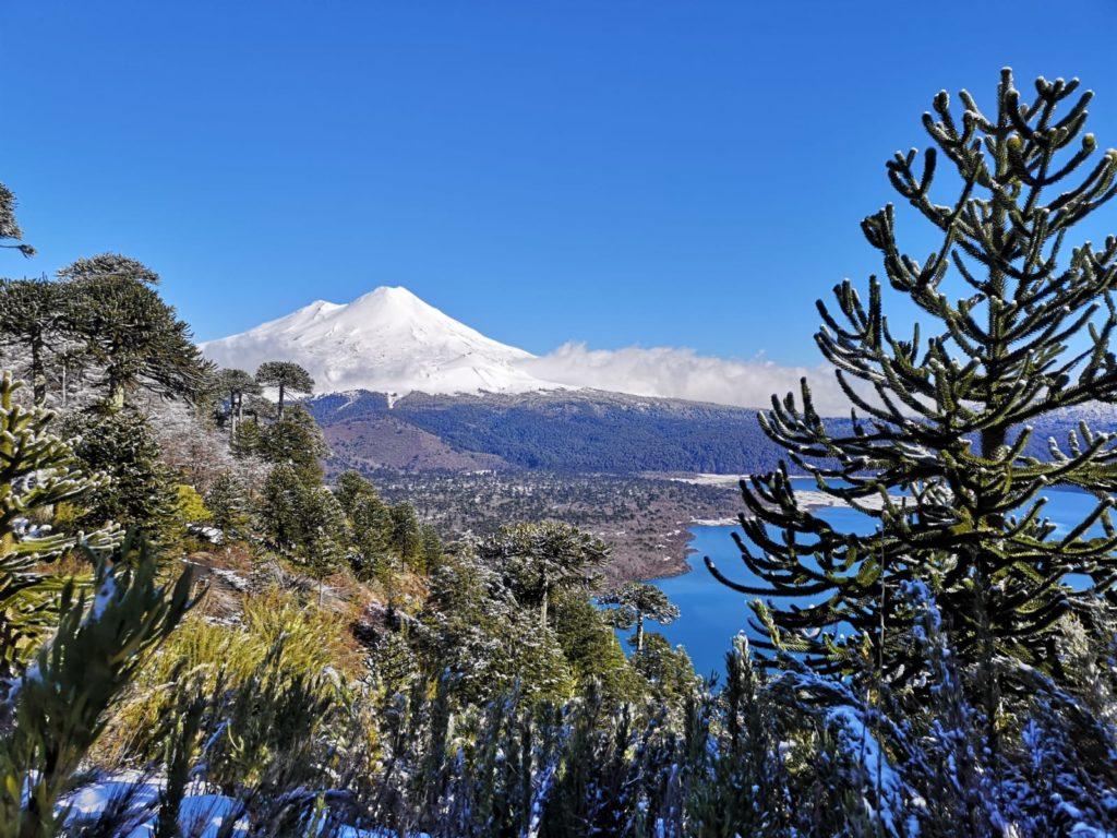 Conguillio sierra nevada en hiver au chili