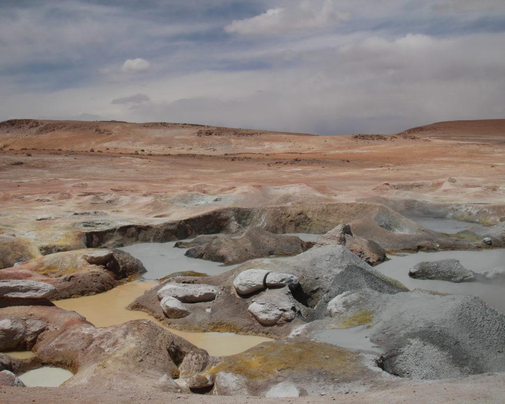 Geysers sol de la mañana Bolivie Chili Uyuni reserve Eduardo Alvaroa