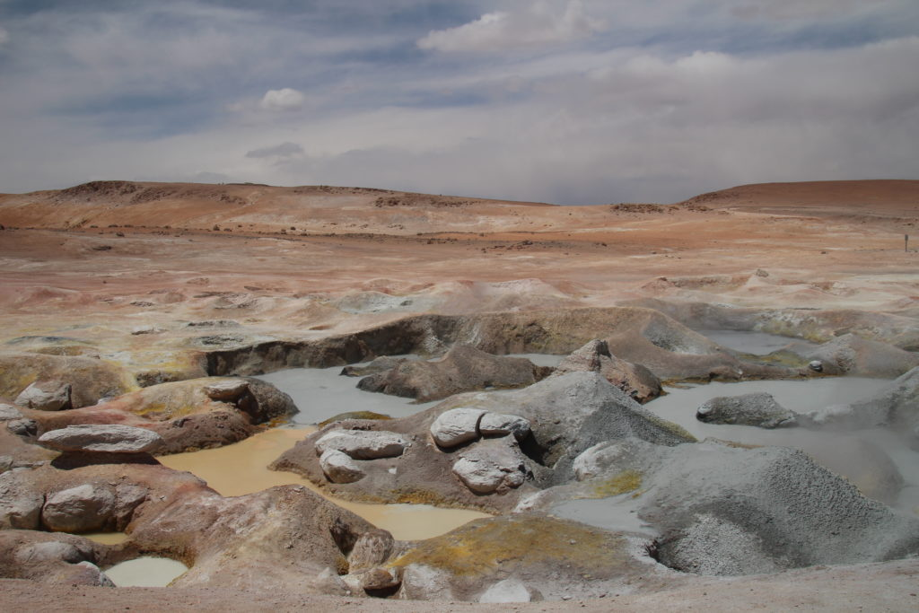 Geysers sol de la mañana Bolivia Chile Uyuni national reserve Eduardo Alvaroa