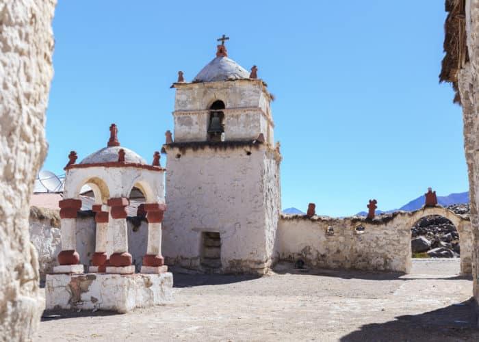Village de Parinacota, extrême nord du Chili