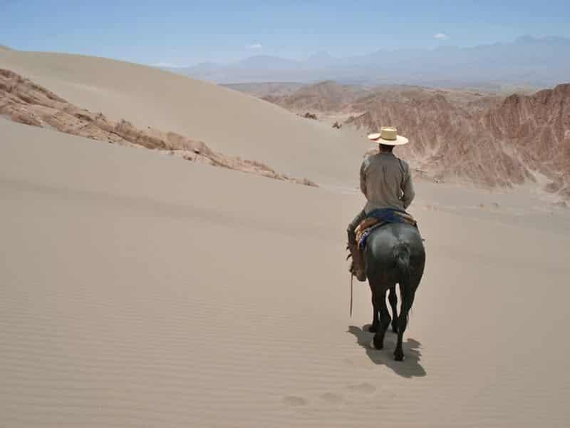 randonnée équestre vallee de la mort desert atacama chili
