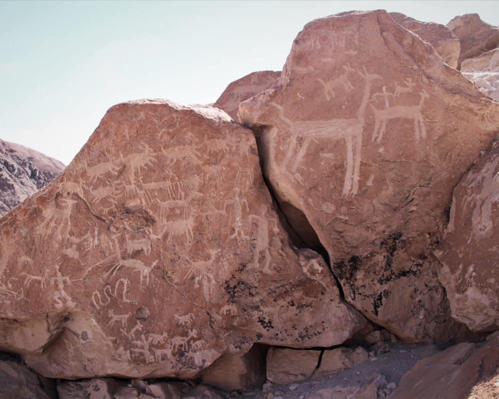 petroglyphes pres de codpa chili altiplano