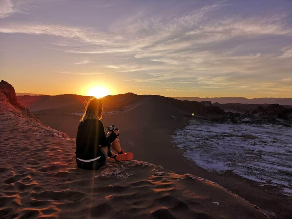photo voyage chili atacama coucher de soleil