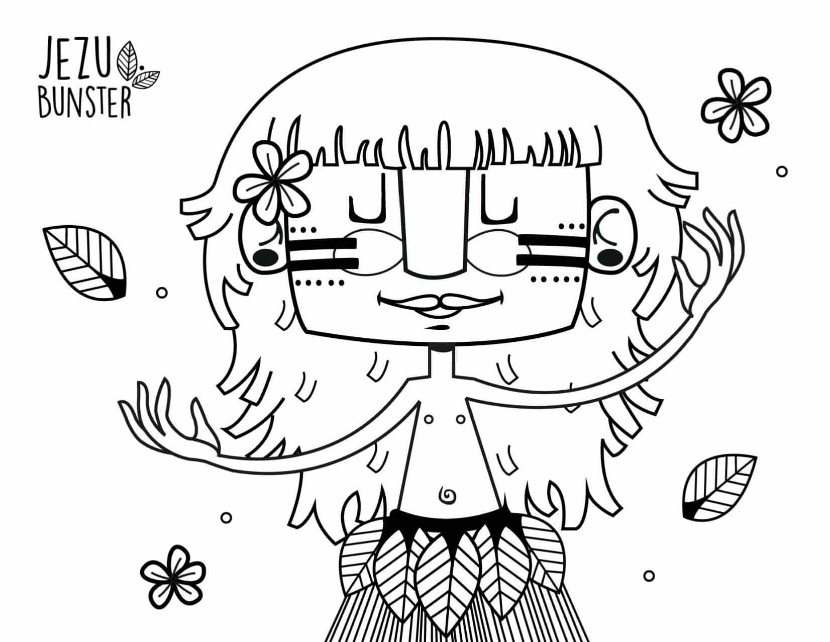 dessins à colorier Rapa Nui Ile de Paques Chili