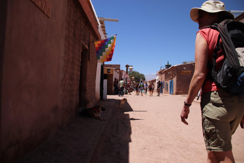Woman san pedro atacama village chile street