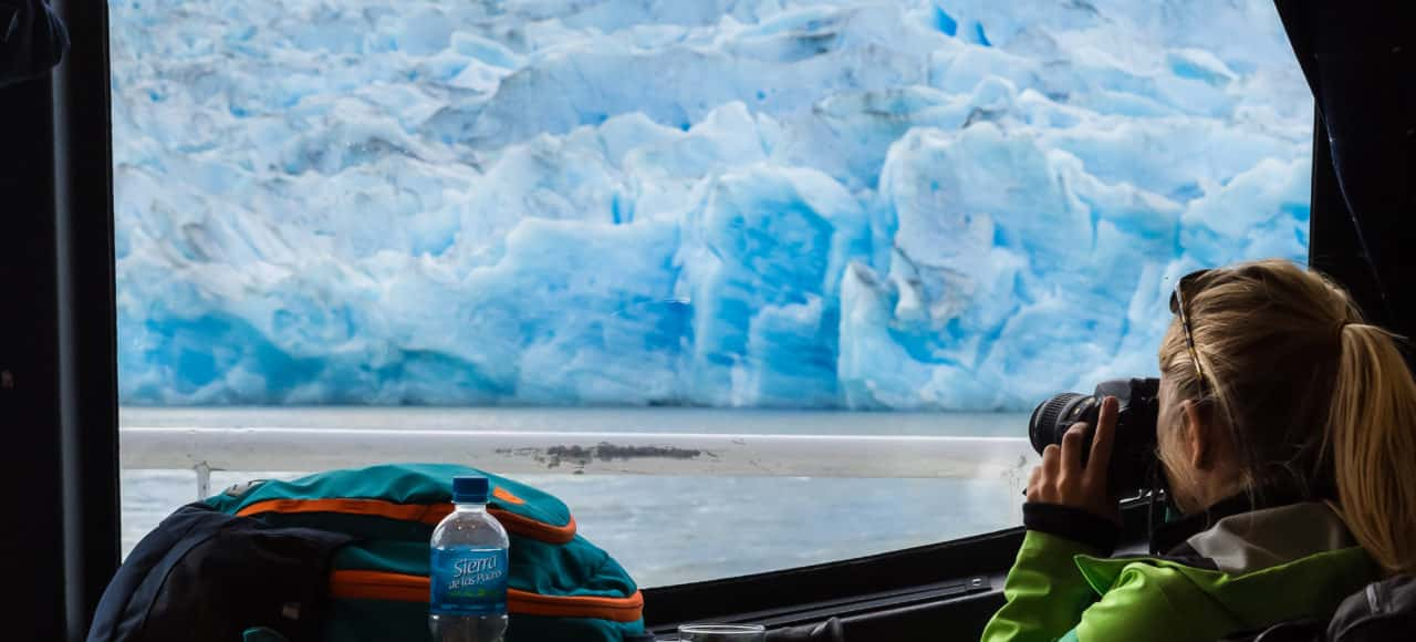 navigation glacier patagonie torres del paine grey faire photo