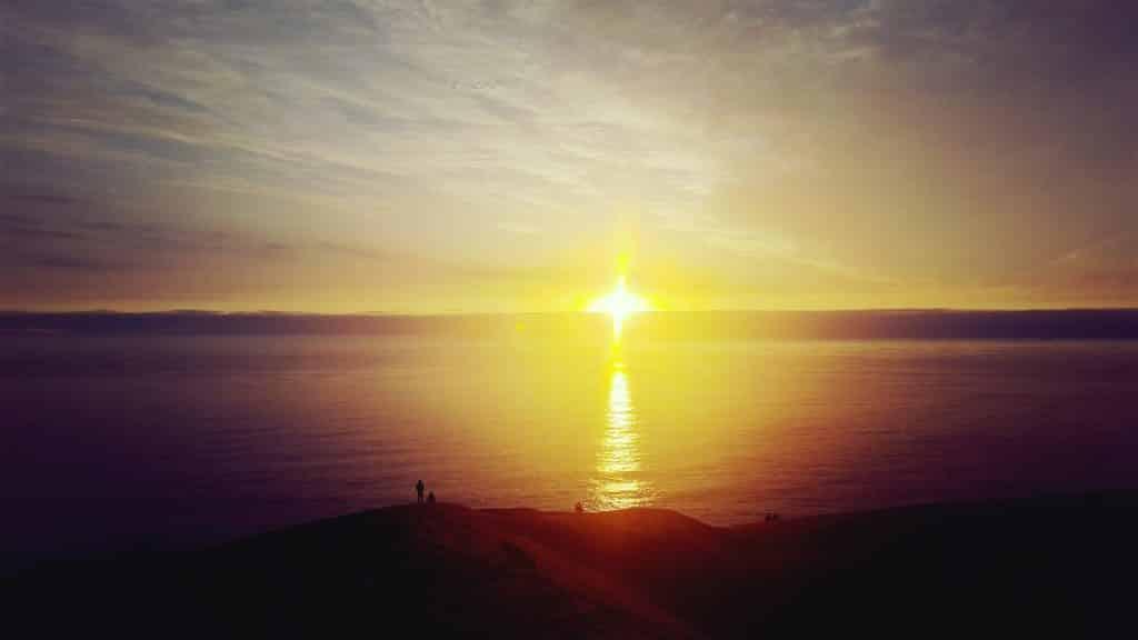Coucher de soleil sur la dune de Concon