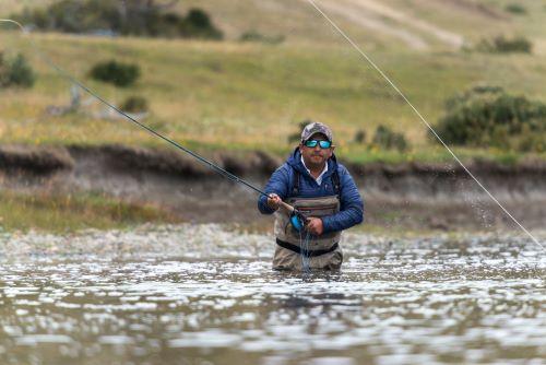 fishing classes at the river man fishing
