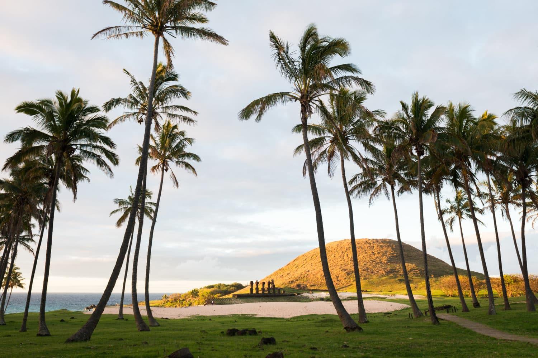 La plue belle plage de l'ile de paques, Anakena