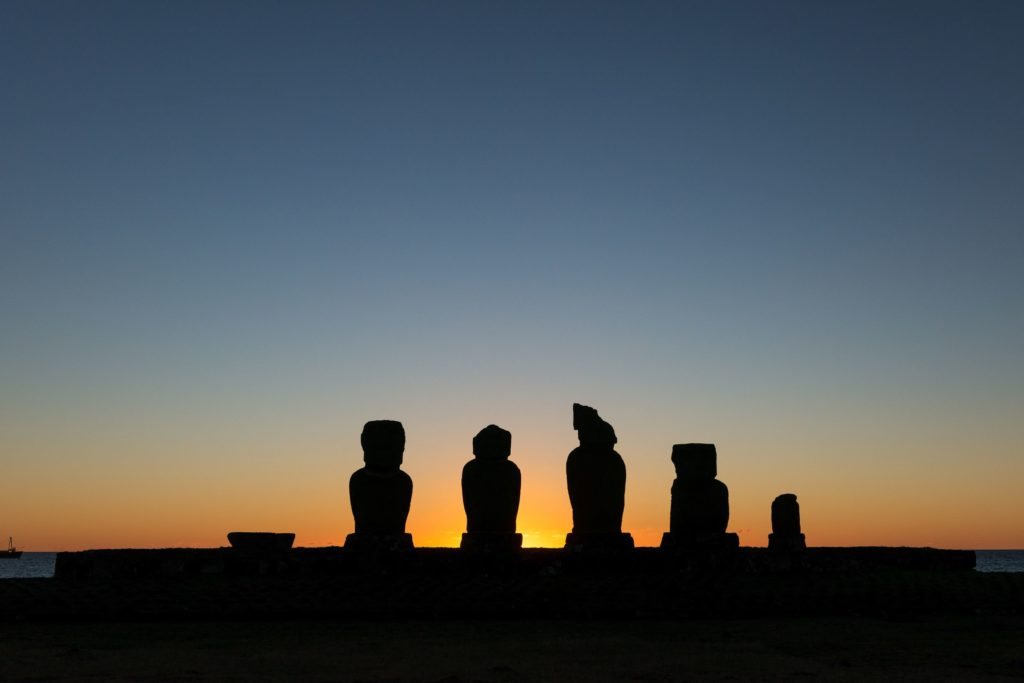 Tahai sunset easter island sunset
