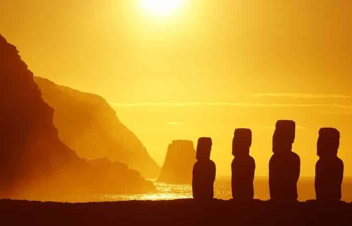 'île de pâques couché de soleil voyage de noces lune de miel