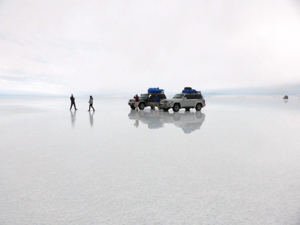 Salar Uyuni rain mirror