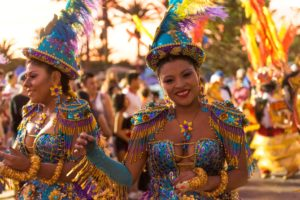 Danseuse au carnaval d'Arica chili