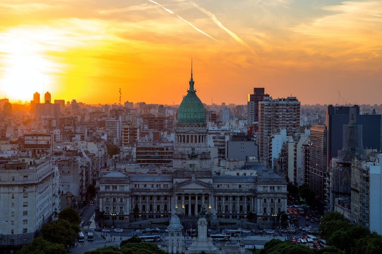 Vue aérienne de Buenos Aires, capitale Argentine