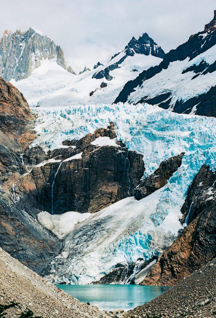 glacier tombant patagonie
