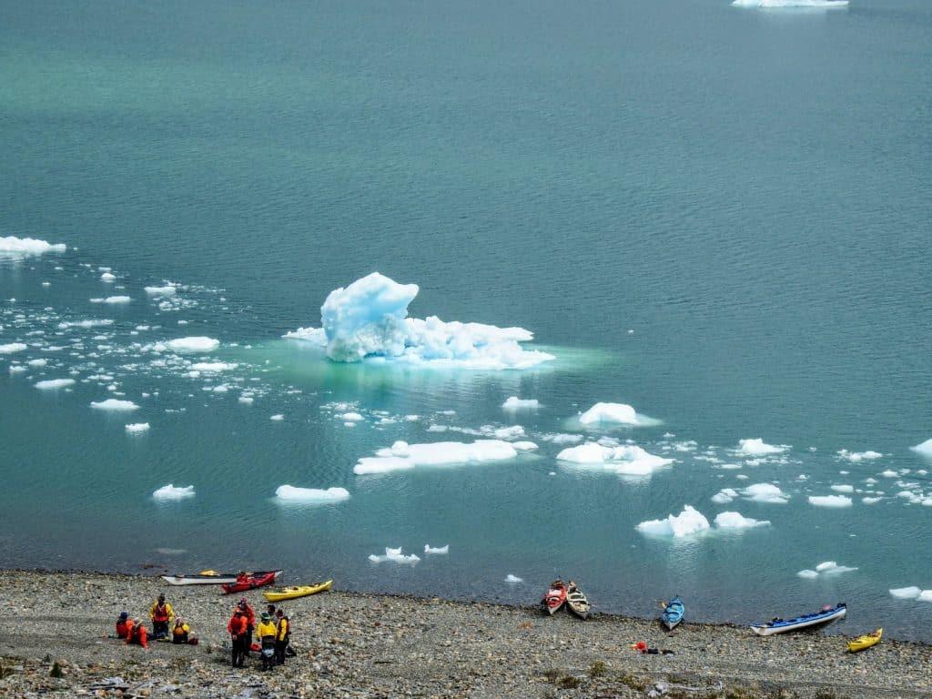 Activité kayak en patagonie