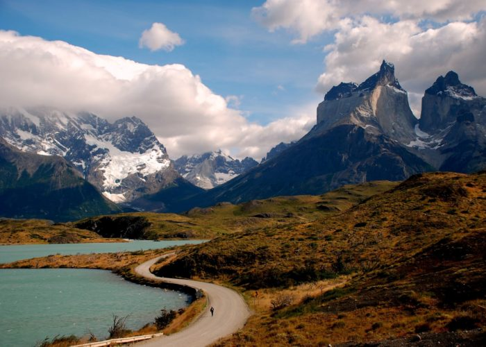 patagonia with turquoise blue lagoon