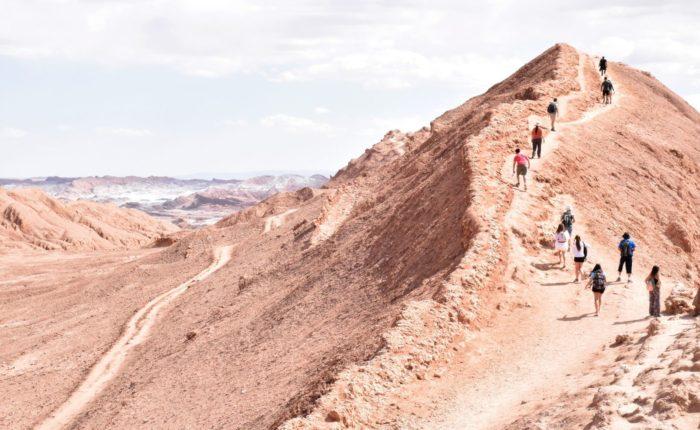 Hiking in the Atacama Desert