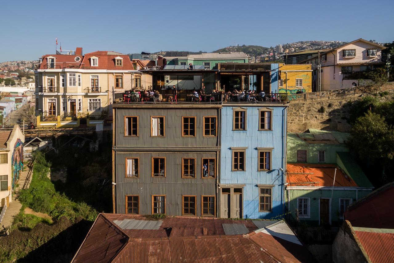 terasse immeuble hotel fauna valparaiso chili