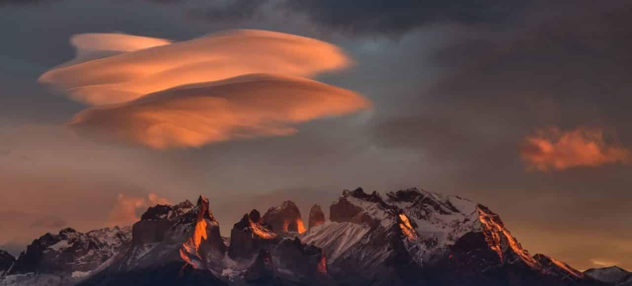 Patagonie Chili Argentine couché de soleil