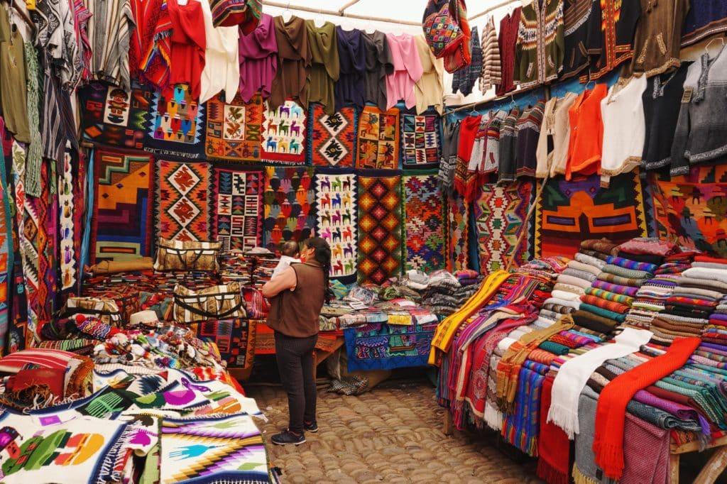 marché laine alpaga souvenirs