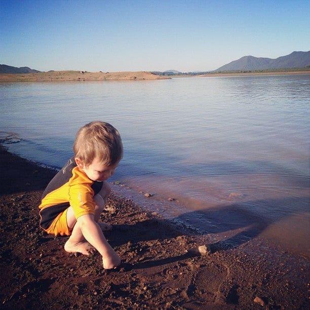 voyage bébé chili lac famille