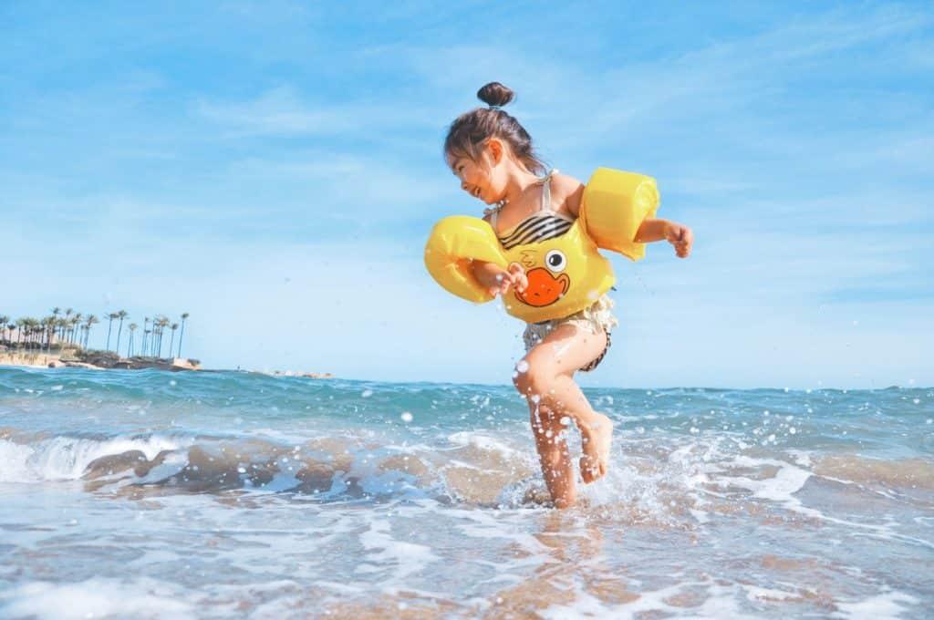 enfant plage voyage bébé chili