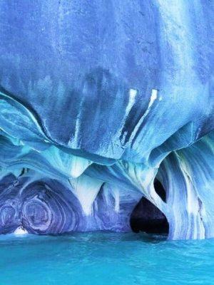 chapelle cathédrale de marbre lac general carrera chili route australe patagonie lac bleu turquoise